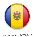 moldova flag round bright icon... | Shutterstock .eps vector #1347088613