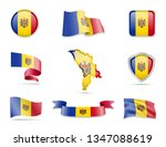 moldova flags collection. flags ... | Shutterstock .eps vector #1347088619