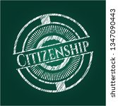 citizenship on chalkboard | Shutterstock .eps vector #1347090443