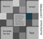 abstract geometrical design | Shutterstock .eps vector #134709980