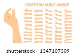 cartoon white male hand forming ... | Shutterstock .eps vector #1347107309