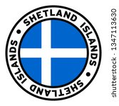 round shetland islands flag... | Shutterstock .eps vector #1347113630
