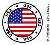 round usa flag clipart | Shutterstock .eps vector #1347115229