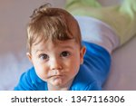 the baby boy lying on his... | Shutterstock . vector #1347116306
