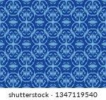 indigo dyed ikat seamless...   Shutterstock .eps vector #1347119540