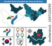 vector map of seongbuk district ... | Shutterstock .eps vector #1347123290
