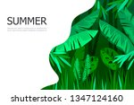 tropical cartoon forest. jungle.... | Shutterstock .eps vector #1347124160