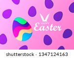happy easter. abstract banner... | Shutterstock .eps vector #1347124163