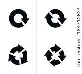 4 arrow pictogram refresh... | Shutterstock . vector #134712824