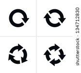 4 arrow pictogram refresh... | Shutterstock . vector #134712830