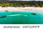 Drone Shot Of Saracen Beach At...