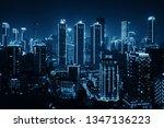 aerial closeup view of urban... | Shutterstock . vector #1347136223