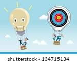 two hot air balloons flying... | Shutterstock .eps vector #134715134