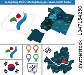 vector map of seongdong... | Shutterstock .eps vector #1347154250