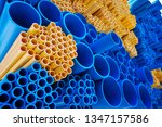 blue and yellow pvc pipes | Shutterstock . vector #1347157586