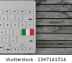 italian flag enter key on white ... | Shutterstock . vector #1347161516