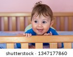 the baby boy lying on his... | Shutterstock . vector #1347177860