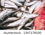 fresh fish at a fishmonger | Shutterstock . vector #1347178100