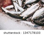 fresh fish at a fishmonger | Shutterstock . vector #1347178103