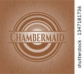 chambermaid vintage wooden... | Shutterstock .eps vector #1347181736