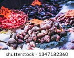 seafood shellfish at a... | Shutterstock . vector #1347182360