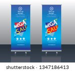 modern mega sale roll up banner ... | Shutterstock .eps vector #1347186413