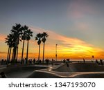 sunset over pacific ocean from... | Shutterstock . vector #1347193070