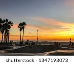 sunset over pacific ocean from... | Shutterstock . vector #1347193073