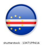 cape verde flag round bright... | Shutterstock .eps vector #1347199616