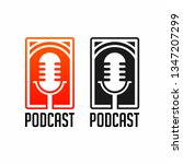 podcast radio icon illustration.... | Shutterstock .eps vector #1347207299