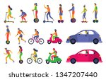 people on city transport.... | Shutterstock .eps vector #1347207440