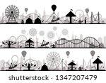 amusement park landscape....   Shutterstock .eps vector #1347207479