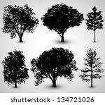 tree set silhouettes   eps10... | Shutterstock .eps vector #134721026
