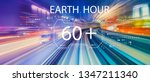 earth hour with abstract high... | Shutterstock . vector #1347211340