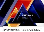 tech futuristic geometric 3d... | Shutterstock .eps vector #1347215339