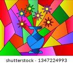 Flowers Pot Picasso Vector...