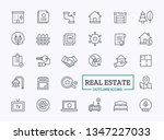 real estate thin line icons.... | Shutterstock .eps vector #1347227033