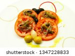 tomato appetizer with anchovy ... | Shutterstock . vector #1347228833