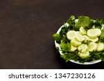 salad with fresh vegetables ... | Shutterstock . vector #1347230126