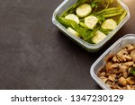 the food in the containers  a... | Shutterstock . vector #1347230129