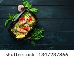 couscous and salmon with... | Shutterstock . vector #1347237866