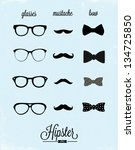hipster design set | Shutterstock .eps vector #134725850