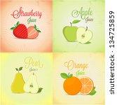fruits labels design set | Shutterstock .eps vector #134725859