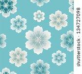 floral seamless  pattern  ... | Shutterstock .eps vector #134727098