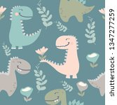 cute dinosaur drawn as vector... | Shutterstock .eps vector #1347277259