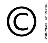 copyright symbol isolated on...   Shutterstock . vector #1347281903