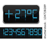 Digital Thermometer  Vector...