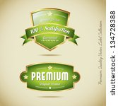 premium quality vector label... | Shutterstock .eps vector #134728388
