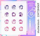 e commerce icon set design...