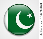 flag of pakistan. round glossy... | Shutterstock . vector #1347287873